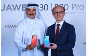 H.E. Saeed Hareb Secretary General of Dubai Sports Council and Gene Jiao President of Huawei CBG Middle East and Africa