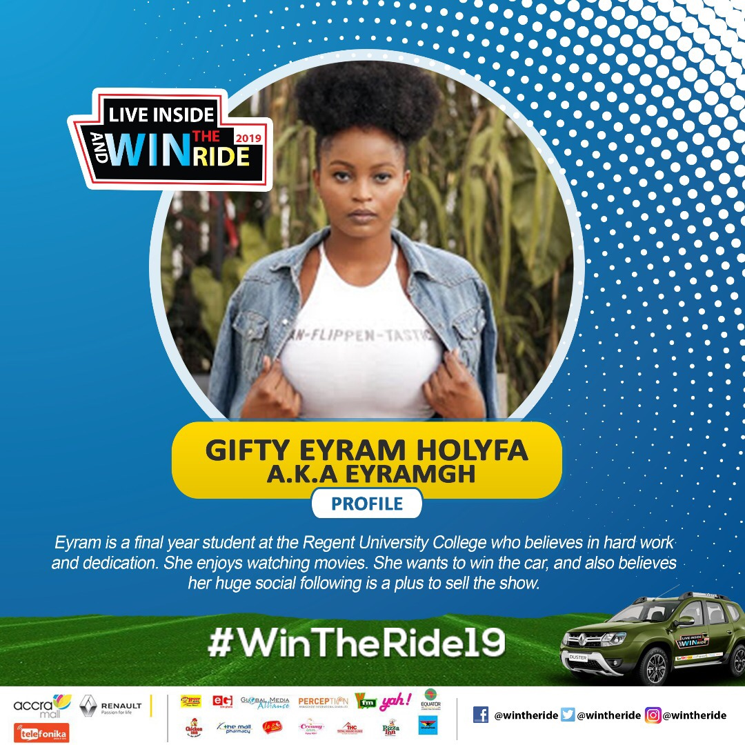 Eyram crowned winner of 2019 Edition of Live Inside Win the