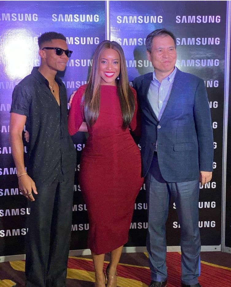 KiDi, Joselyn and MD of Samsung, Eugene Nahm